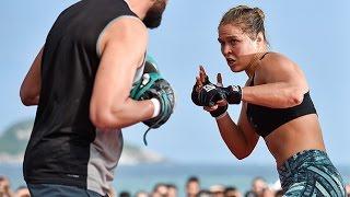 Бои без правил UFC 190 Открытая тренировка