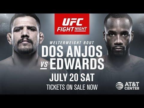 UFC on ESPN 4 Рафаэль Дос Аньос - Леон Эдвардс прямая трансляция