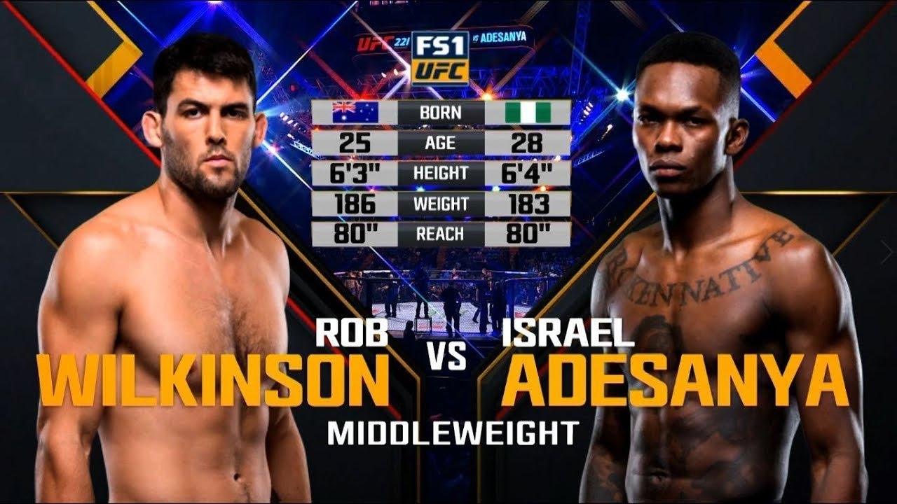 UFC Дебют: Исраэль Адесанья vs Роб Вилкинсон