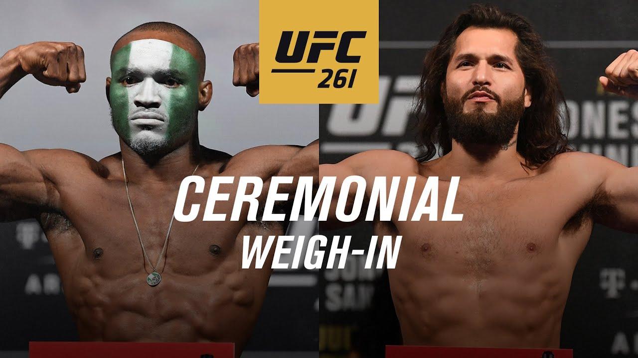 UFC 261: Церемония взвешивания прямая трансляция