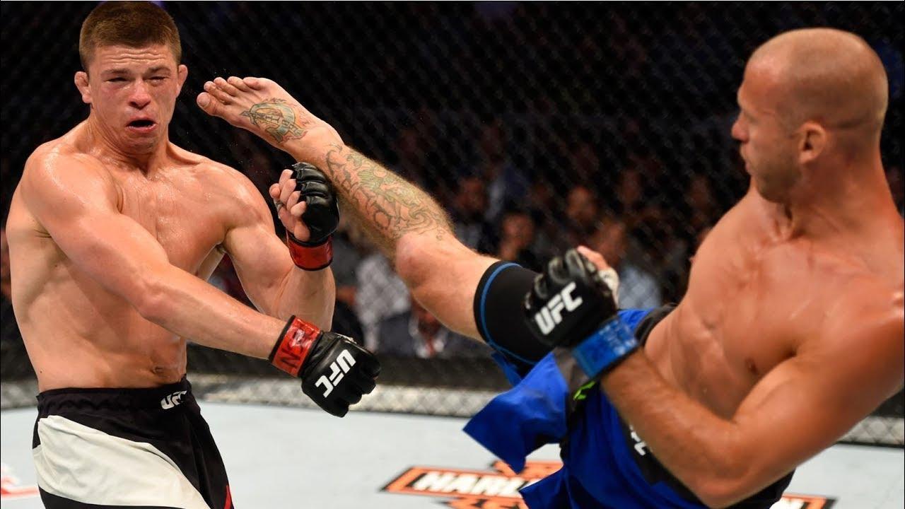 Лучшие нокауты комбинациями в истории UFC